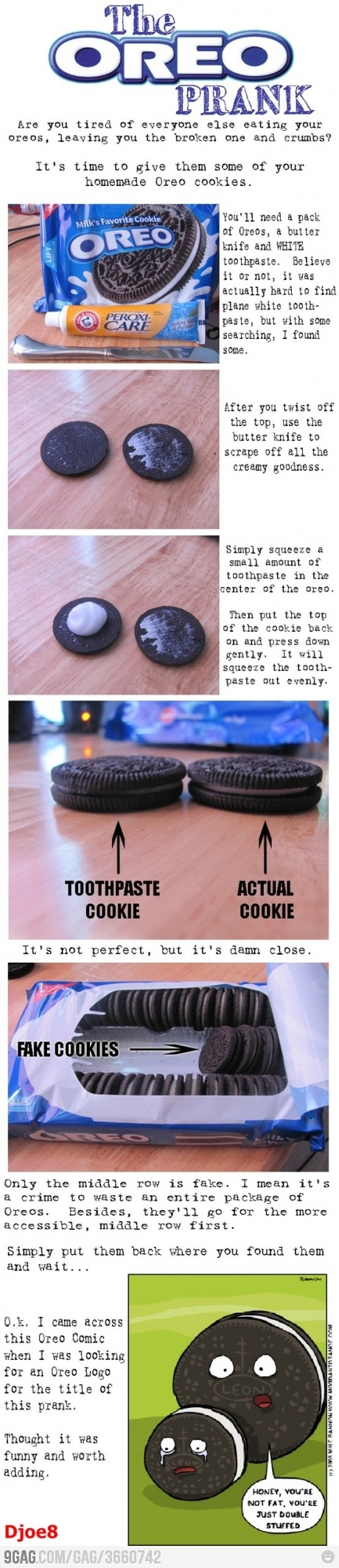 April Fools Day Oreo Prank.