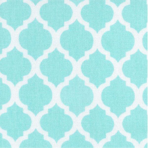 Tecido Tricoline - Azulejo Marroquino - Turquesa -Tricoline 100% Algodão(0,50 x 1,50) - panokits - tecidos tricoline patchwork artesanato