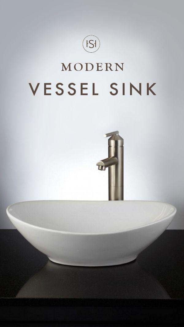 Valor oval porcelain vessel sink vessel sink and master for Master bathroom vessel sink