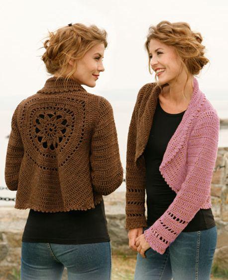 DIY - Crochet a circle cardigan