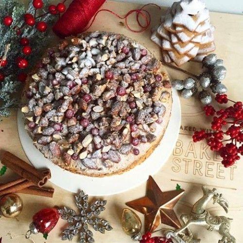 МАМИН ТОРТ Торт с невесомым коричным бисквитом, кремом на основе чая с бергамотом и карамелизированным миндалем