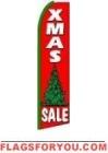 Xmas Tree Sale Feather Flag 2.5' x 11.5'