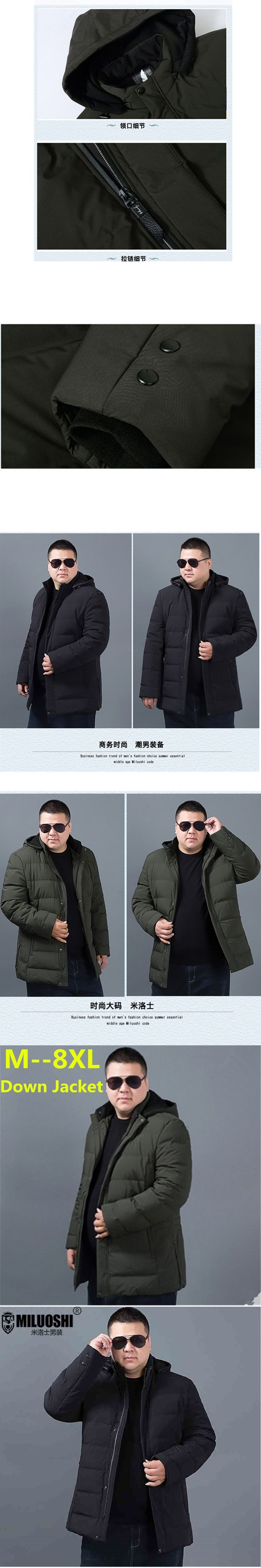 2018 Men Winter Jackets Autumn Mens Cotton Padded Solid Thick Parkas Fashion Casual Parka Down Coat Hooded Zipper Outwear Plus Size M 5xl Simple Wild Clothing