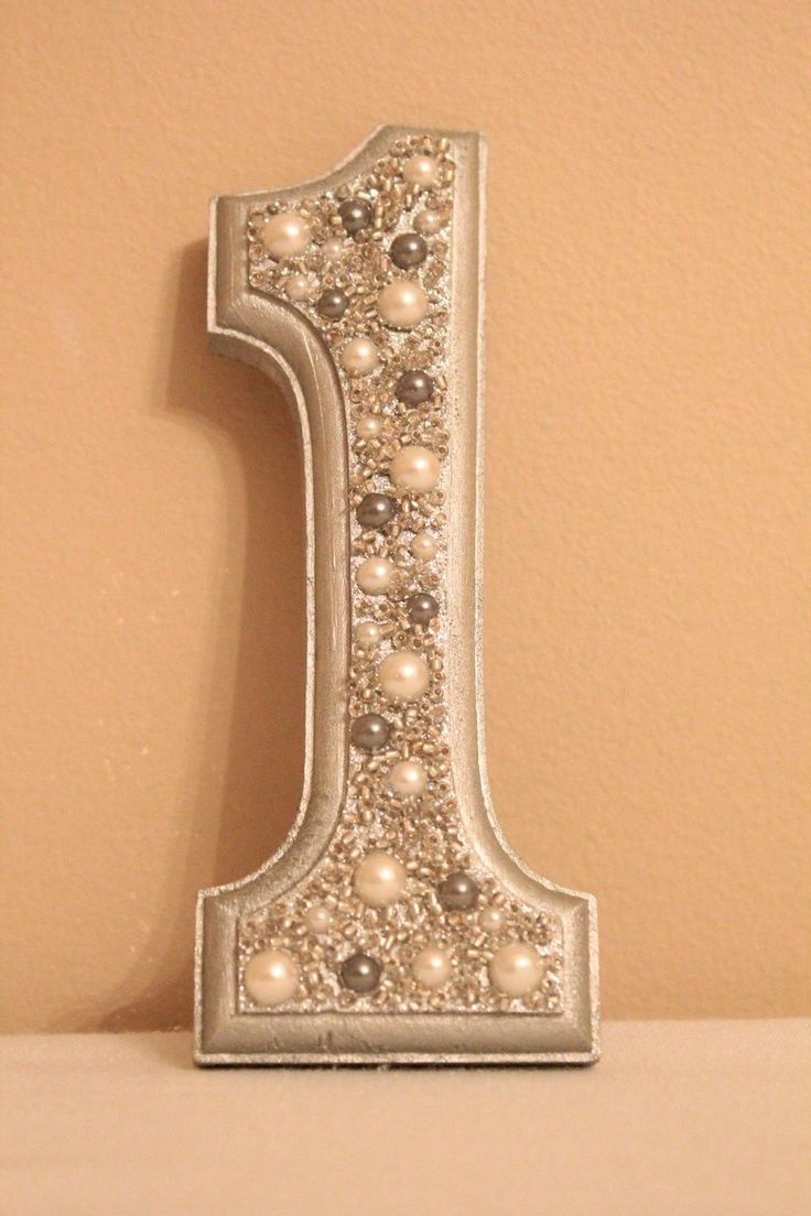 Wedding Table Number, Glitter Table Number, Pearl Table Number, Silver. So cute!  gatsby  deco    number      20s