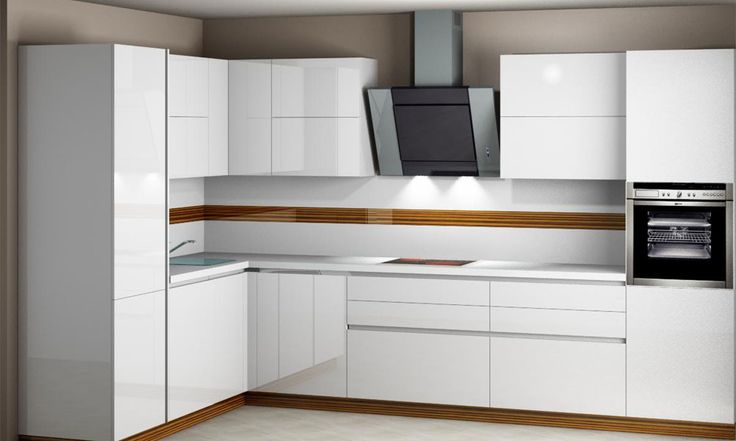 Дизайн белой кухни модерн и классика
