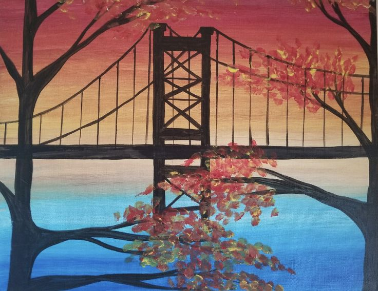 """Ben Franklin Bridge in the Fall"" Artist: Danielle DiTaranto"