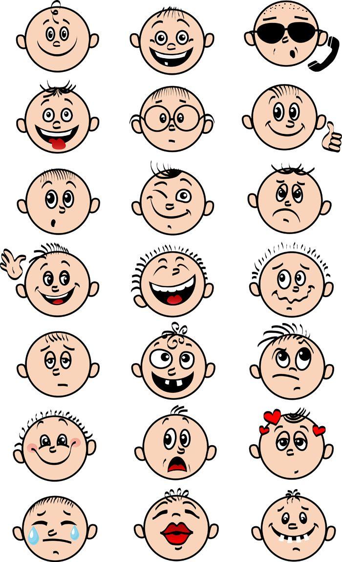 Смешные рисунки личики, день рождения наташи