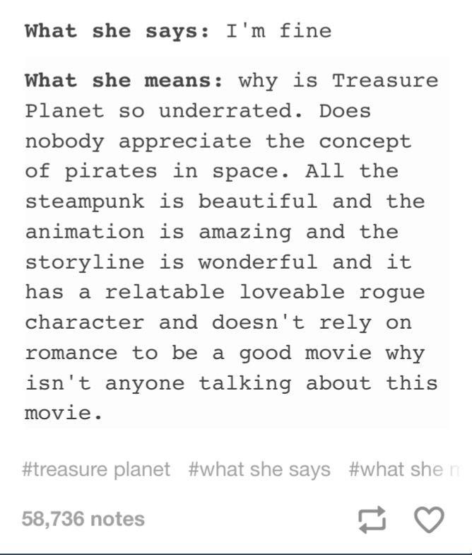 Love treasure planet