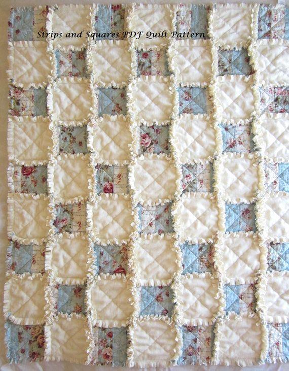 Baby Rag Quilt Pattern, Easy Quilt Pattern, Beginner PDF Pattern