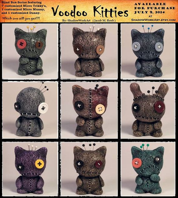 Hey, I found this really awesome Etsy listing at https://www.etsy.com/listing/195734933/voodoo-kitties-blind-box-series