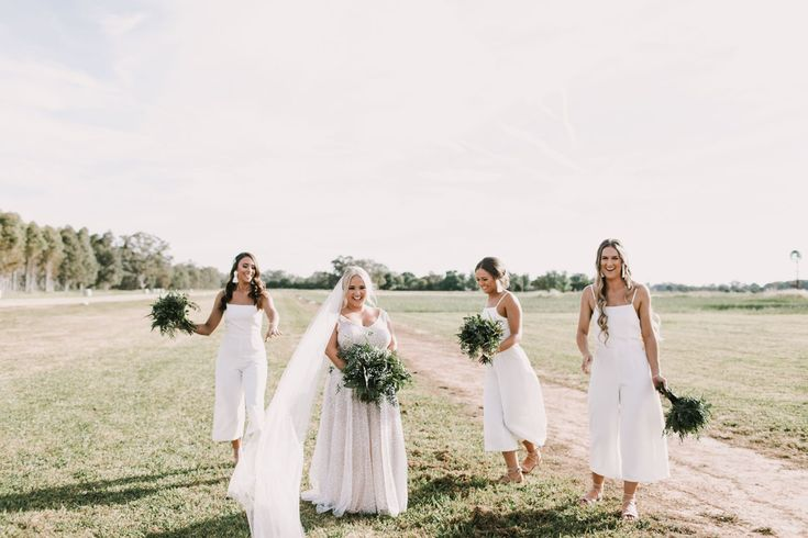 Brown Brothers Milawa Wedding  Anna Campbell Sydney Dress Bridesmaids Jumpsuits   Valley Blooms