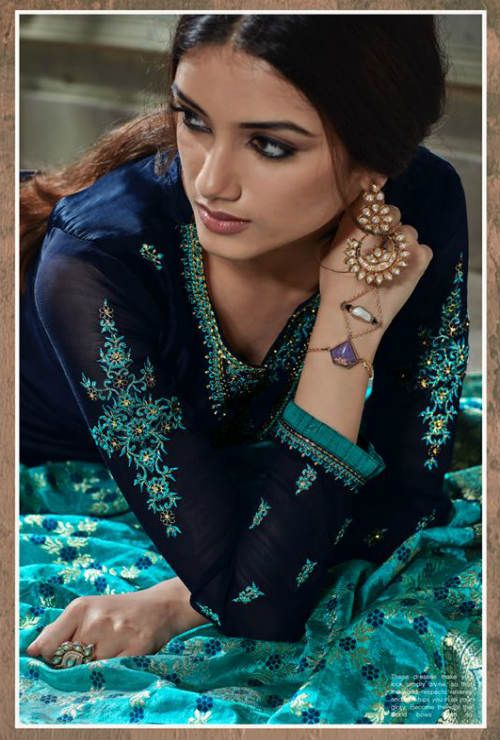 fbdc0e3fae Hasna Husna Banaras 2 Georgette Salwar Suits With Inner & Embroidery Suit  2007