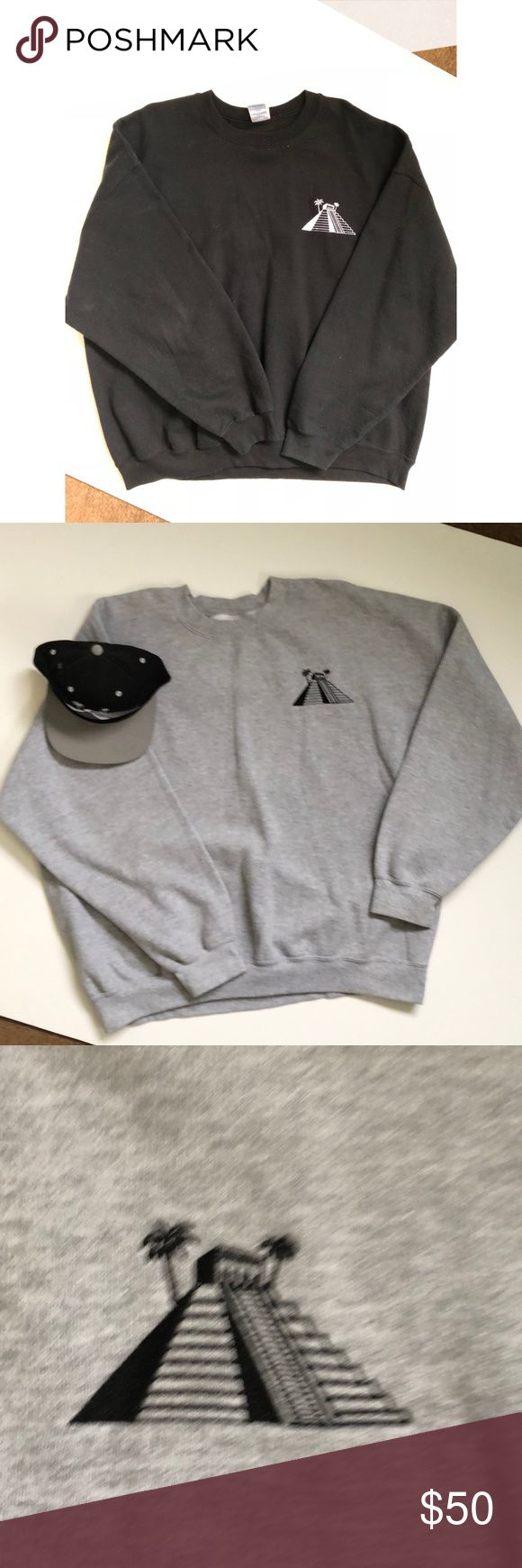 The Cancun Life sweater and snap pack hat bundle Cancun life crew long sleeve sweater with hat 🧢 bundle look good in the spring or late fall with this amazing bundle by chingo bling. Hat has been sign by chingo bling himself.. great for gift or just looking for something new to wear. Make me offer!!! Never know when you may need a sweater this climate!! Thanks for stop by my closet. One sweater is black the other ones is gray. Snap pack hat is one size fit all. 12/24/17 Sweaters Crewneck