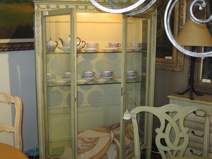 Country French China Cabinet