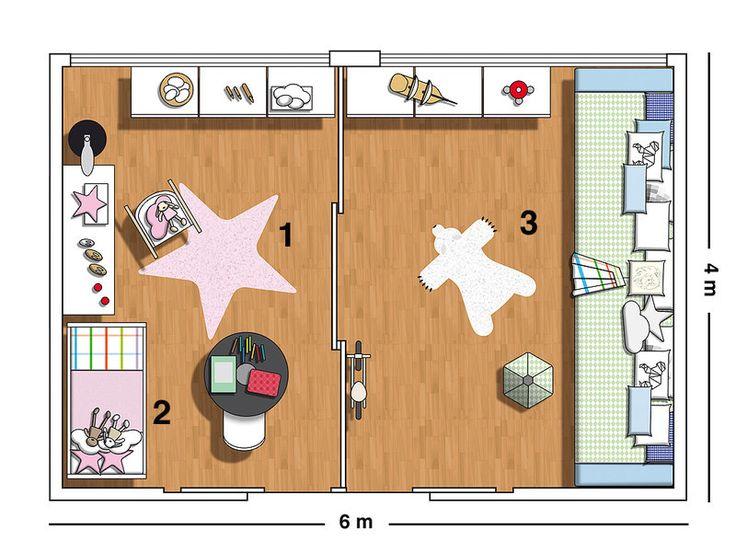 Dormitorio para tres