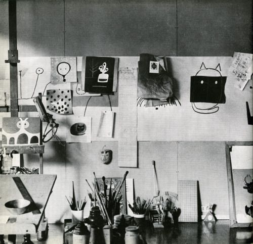 #BeyondWorkingSpace Paul Rand's studio