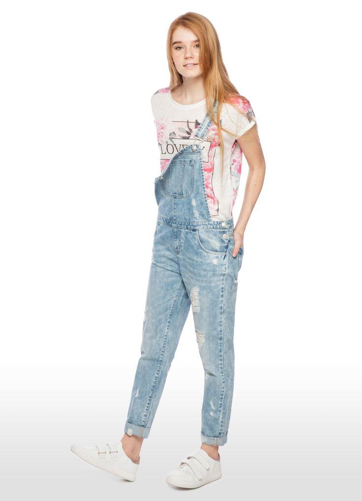 Купить КОМБИНЕЗОН ДЖИНСОВЫЙ (LO2O51) в интернет-магазине одежды O'STIN