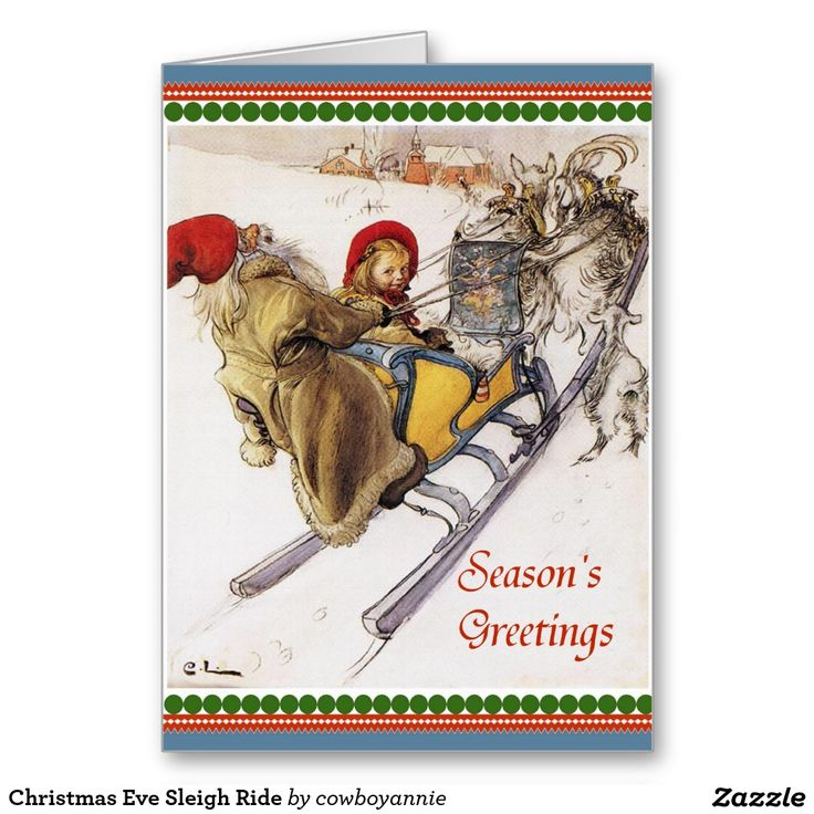 Christmas Eve Sleigh Ride Greeting Card