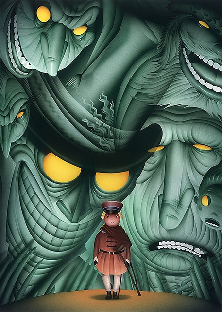 Poster illustration for Hartford Stage's annual production of A Christmas Carol