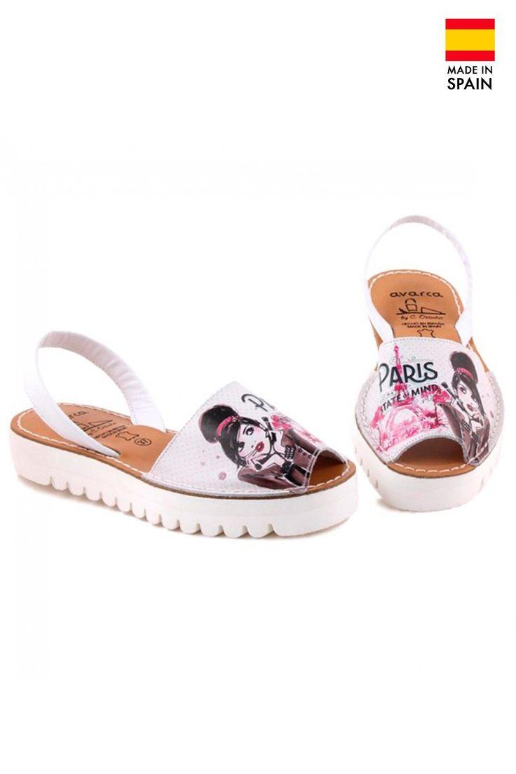 Sandale Avarca Menorquinas de dama din piele naturala, High Paris, alb | Summer Sandals | Colecții
