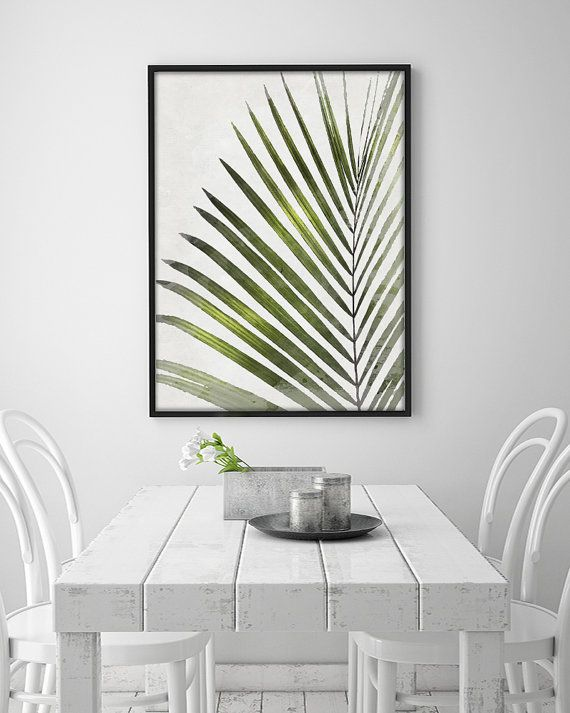 A funny tropical leave. Perfect for decorating the living room, hallway or a room. And its like a painting! Give your home a pop of color and