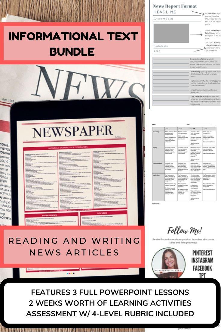 Reading News Articles Summary Graphic Organizer Writing News
