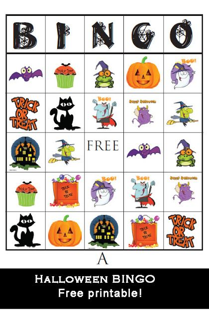 Free Halloween Bingo Printable!