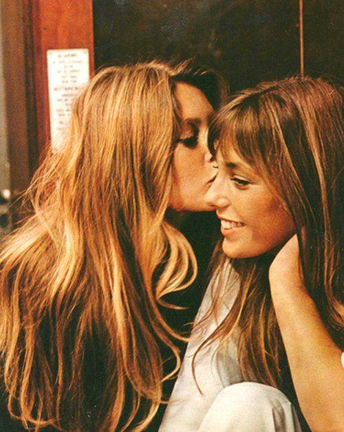 Brigitte Bardot and Jane Birkin in If Don Juan Were A Woman (Vadim, 1973).
