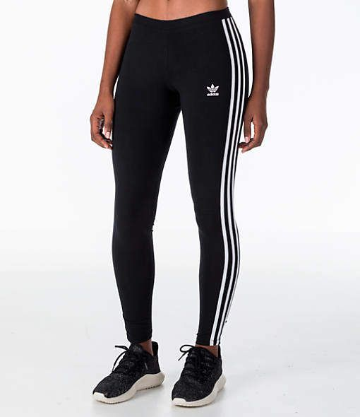 Adidas Women's Originals Trefoil 3-Stripes Leggings | Adidas leggings | Adidas | athletic outfit  | sporty outfit | exercise clothings
