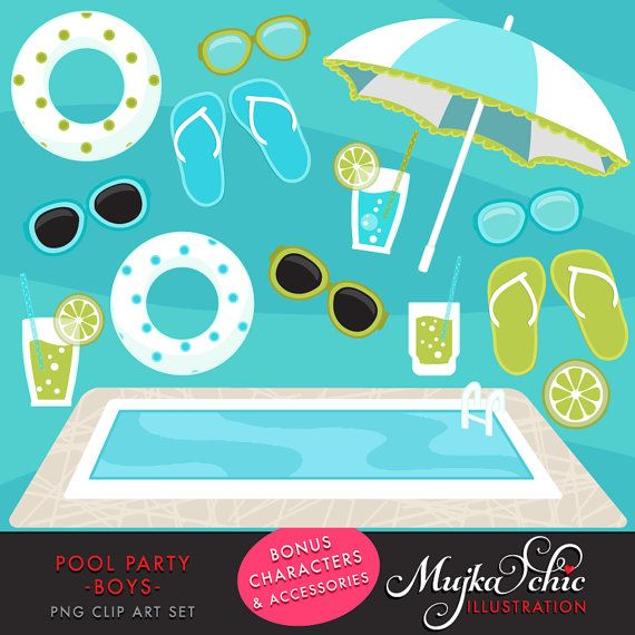 1000 images about mujka cliparts on pinterest party for Pool design graphic