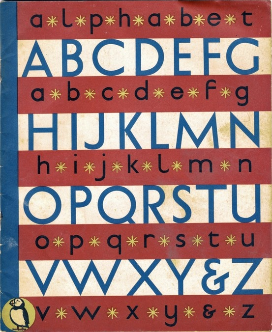 A child's Alphabet. Design and drawn by Grace Gabler. 1945, Puffin picture books.