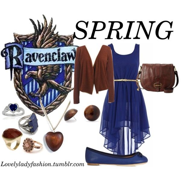 """""""Ravenclaw Seasons - Spring"""" by nearlysamantha on Polyvore"""