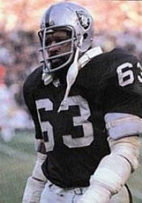 Gene Upshaw /  Oakland Raiders (1967-1981) He later served as the executive director of the National Football League Players' Association (NFLPA). In 1987, he was inducted into the Pro Football Hall of Fame. He is also the only player in NFL history to reach the Super Bowl in three different decades with the same team (Won twice).  3x All-AFL and 3x All-Pro NFL first team.