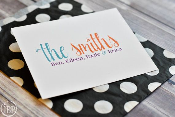Personalized Family Note Cards Personalized by itsybitsypaper