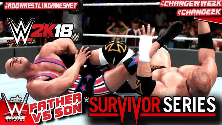 WWE 2K18 Father Vs Son   TRIPLE H VS KURT ANGLE: SETTLING OUR SURVIVOR S...