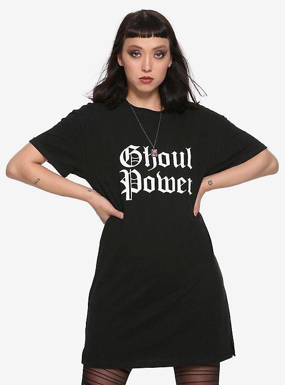 bc80dc86e3d6 Ghoul Power Girls T-Shirt Dress   halloween crafts and ideas   Power ...