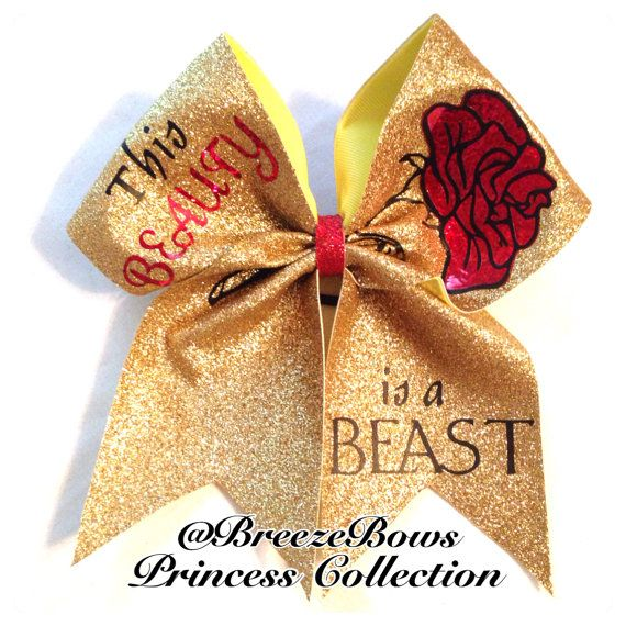 This Beauty is a Beast Cheer Bow on Etsy, $11.00