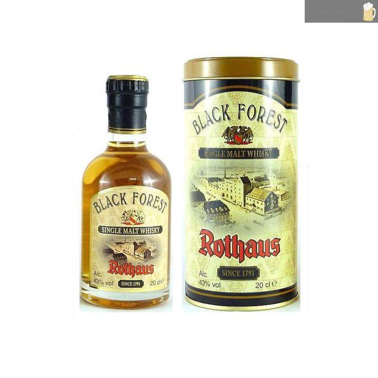 Rothaus Black Forest Single Malt Whisky - 0,2 Liter Flasche - auf Schwarzwald-Bier-Fanshop.de, dem Shop für Fanartikel der bad. Staatsbrauerei Rothaus AG, sowie der Waldhaus Brauerei., 23,50 €