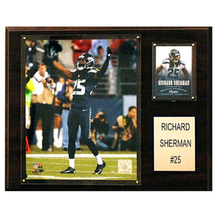 C and I Collectables NFL 15W x 12H in. Roger Sherman Seattle Seahawks Player Plaque - 1215SHERMAN