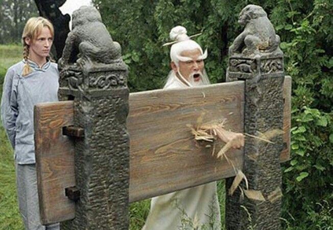 Pai Mei: It's the wood that should fear your hand, not the other way around. No wonder you can't do it, you acquiesce to defeat before you even begin.