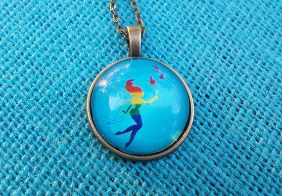 Rainbow mermaid under the sea glass by SillySquirrelJewelry