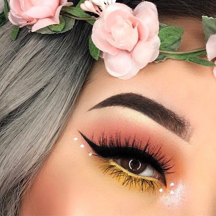 """882 Likes, 11 Comments - NYX Professional Makeup (/nyxcosmetics/) on Instagram: """"Do as /brandi/.x0 and spring up your eye look with our White Liquid Liner!  Catch us on Snapchat…"""""""
