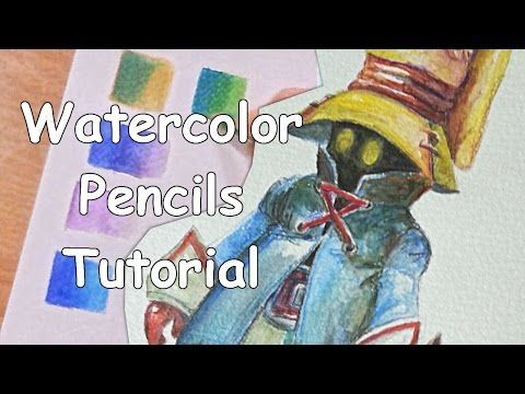 TUTORIAL: HOW TO USE WATERCOLOR PENCILS FOR BEGINNERS - YouTube