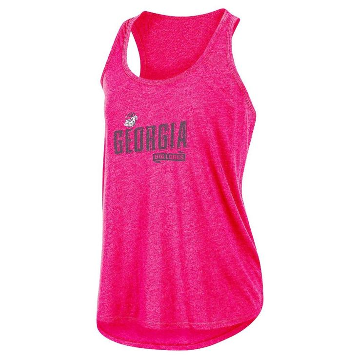 NCAA Women's Gameday Heathered Racerbank Soft Touch Poly Tank Top Georgia Bulldogs - XL, Multicolored