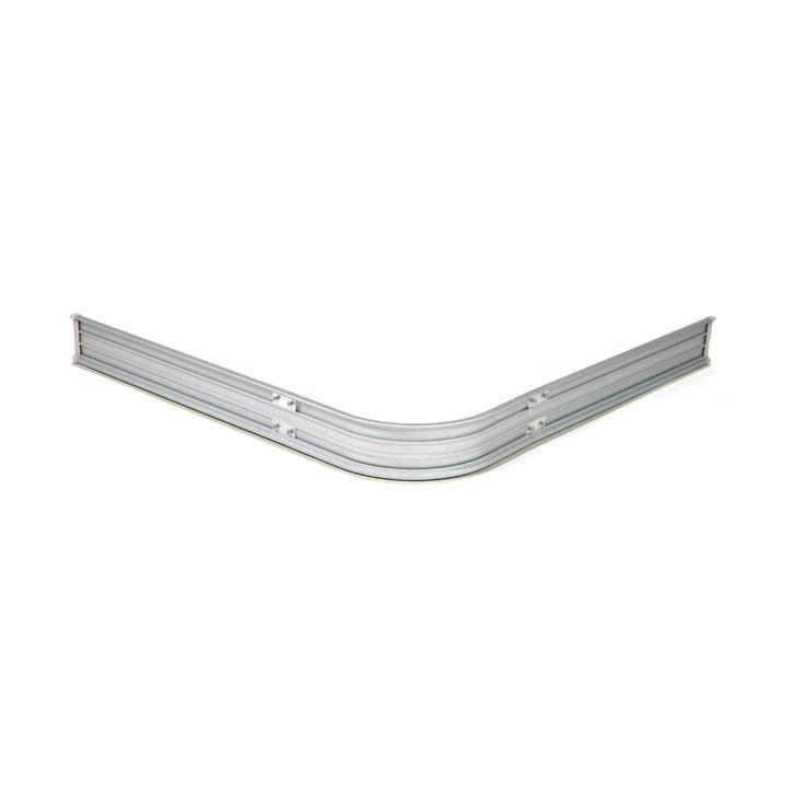 Duschlist 90X90 cm SILVER Kapbar duschsarg av aluminium med gummilist i underkant.  Tätar effektivt mot golvet.   Duschsargen ligger löst mot golvet när d