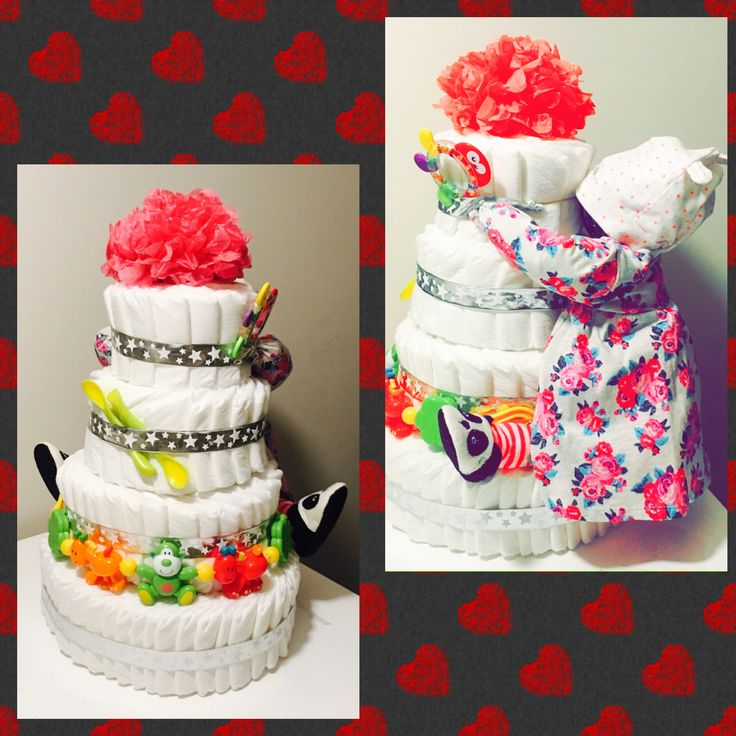 Plienková torta Diaper cake DYI