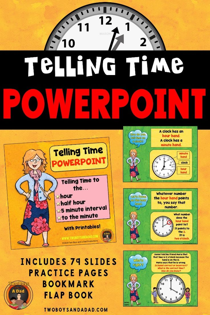 Telling Time PowerPoint and Printables Teaching time