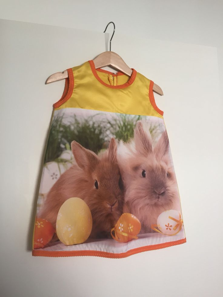 Kussensloop jurk #pasen #paasjurk #kussensloop #zeeman #konijnen