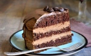 Naked cake al caffè e cioccolato