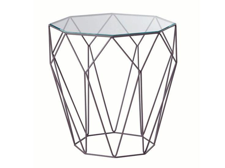 Table basse ronde en acier precious table d 39 appoint - Prix table basse roche bobois ...